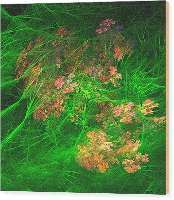Wood Print featuring the digital art The Struggle by Richard Ortolano