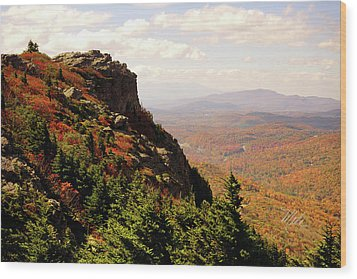 Wood Print featuring the photograph The Summit In Fall by Meta Gatschenberger
