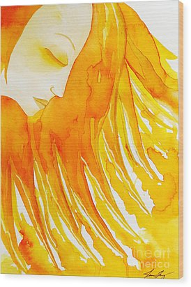 The Sun Goddess Wood Print by Jean Fry