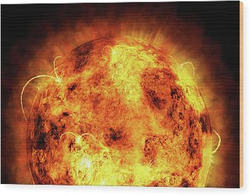 The Sun Wood Print by Michael Tompsett