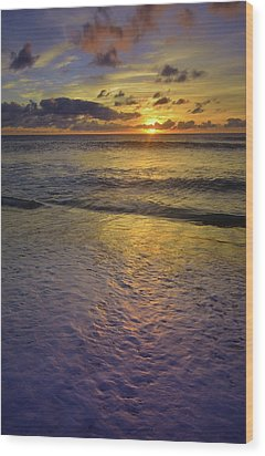 Wood Print featuring the photograph The Sun Sets Softly In Molokai by Tara Turner