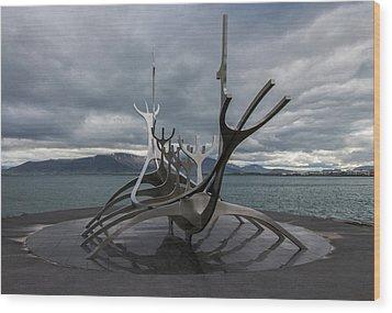 The Sun Voyager, Reykjavik, Iceland Wood Print