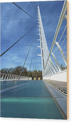 Wood Print featuring the photograph The Sundial Bridge by James Eddy