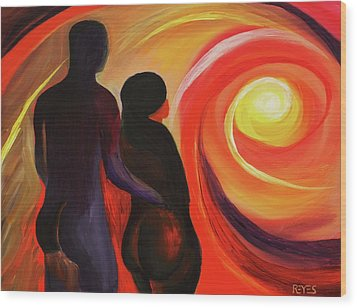The Sunset Of Our Dreams Wood Print by Angel Reyes