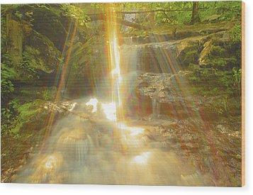 The Sunset  On Jones Falls Wood Print by Glenn Vidal