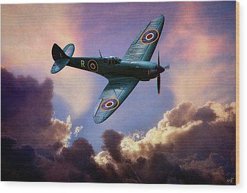The Supermarine Spitfire Wood Print by Chris Lord