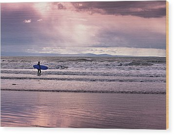 Wood Print featuring the photograph The Surfer by Justin Albrecht