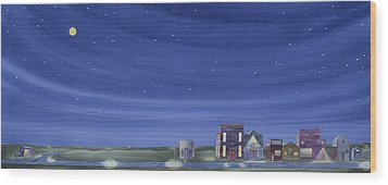 Wood Print featuring the painting The Sweetest Little Town In The Prairie II by Scott Kirby