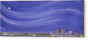 Wood Print featuring the painting The Sweetest Little Town In The Prairie IIi by Scott Kirby