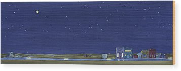 Wood Print featuring the painting The Sweetest Little Town In The Prairie by Scott Kirby