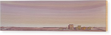 Wood Print featuring the painting The Sweetest Little Town On The High Plains by Scott Kirby