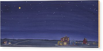 Wood Print featuring the painting The Sweetest Little Town On The Prairie V by Scott Kirby
