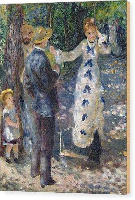The Swing Wood Print by Pierre Auguste Renoir