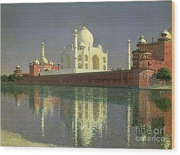 The Taj Mahal Wood Print by Vasili Vasilievich Vereshchagin