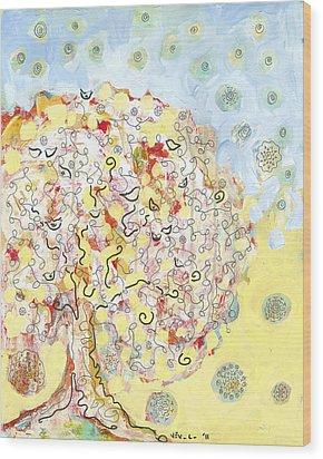 The Talking Tree Wood Print by Jennifer Lommers