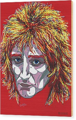 The Tartan Of Rod Stewart Wood Print by Suzanne Gee
