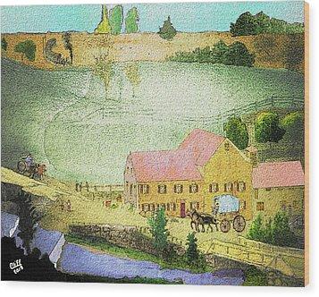 The Tavern Wood Print