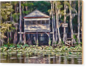 The Tea Room Wood Print by Lana Trussell