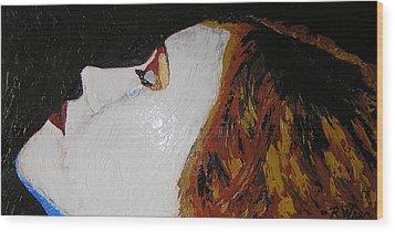 The Tear Wood Print by Ricklene Wren