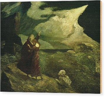 The Tempest Wood Print by  Albert Pinkham Ryder
