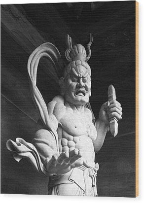 Wood Print featuring the photograph The Temple Guardian by Tim Ernst