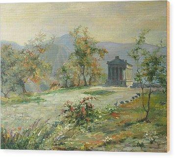 The Temple Of Garni Wood Print by Tigran Ghulyan