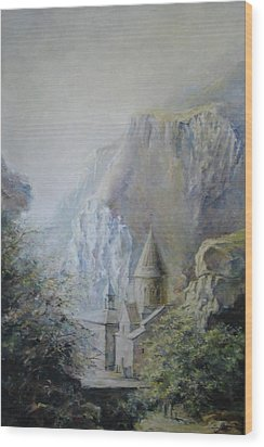 The Temple Of Geghard Wood Print