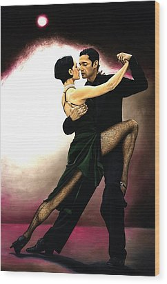 The Temptation Of Tango Wood Print by Richard Young