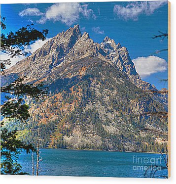 Wood Print featuring the photograph The Teton Gem by Robert Pearson