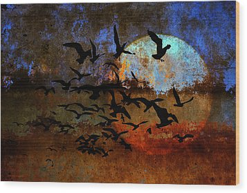 The Texture Of Our Dreams Wood Print by Ron Jones