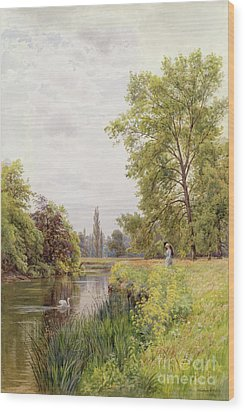 The Thames At Purley Wood Print by William Bradley