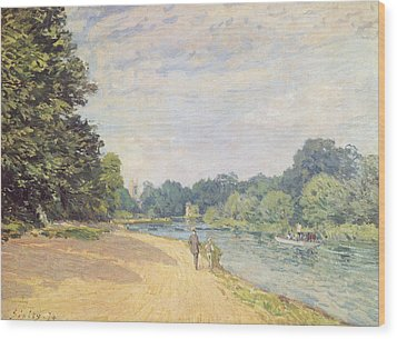 The Thames With Hampton Church Wood Print