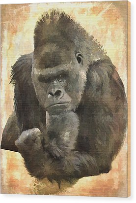 The Thinker Wood Print by Diane Alexander