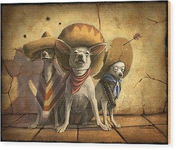 The Three Banditos Wood Print by Sean ODaniels