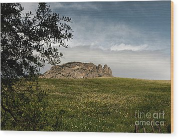 Italy, Calabria, Cimina,the Three Fingers Wood Print