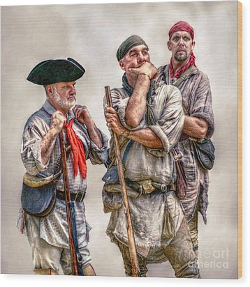 The Three Frontiersmen  Wood Print by Randy Steele