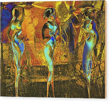 The Three Graces Wood Print by Anne Weirich