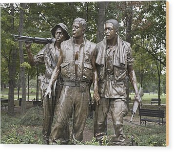 The Three Soldiers By Frederick Hart Wood Print by Everett