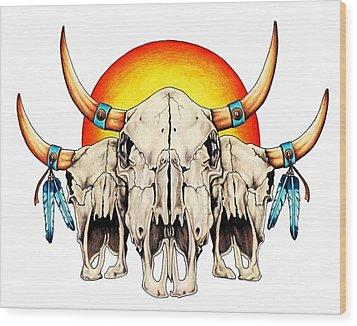 The Three Spirits Wood Print by Sheryl Unwin