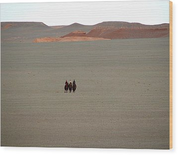 The Three Wisewomen Of The Gobi Wood Print