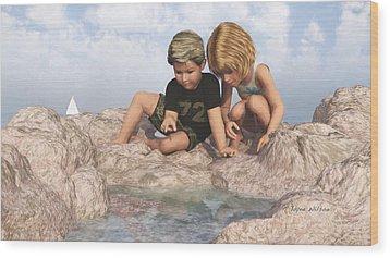 The Tide Pool Wood Print by Jayne Wilson