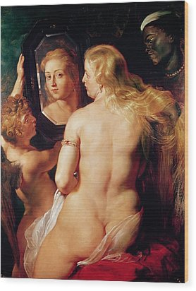 The Toilet Of Venus Wood Print by Peter Paul Rubens