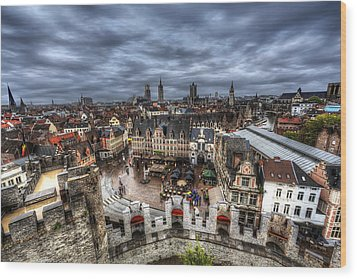 Wood Print featuring the photograph The Top Of Ghent by Shawn Everhart