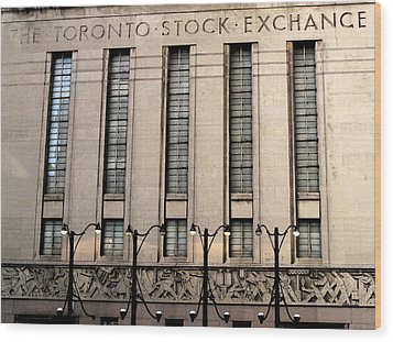 The Toronto Stock Exchange Wood Print