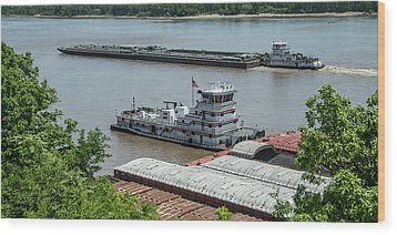 The Towboat Buckeye State Wood Print by Garry McMichael