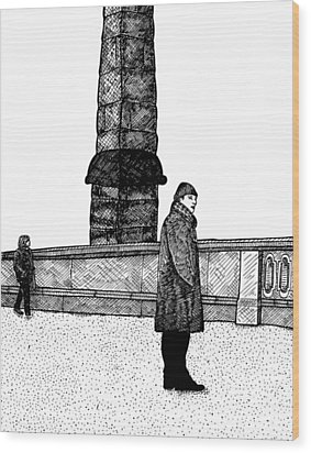 The Tower Wood Print by Karl Addison