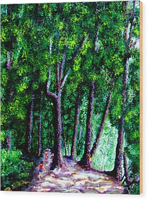 The Trail Wood Print by Stan Hamilton