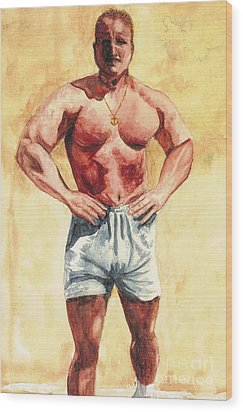 Wood Print featuring the painting The Trainer by Vicki  Housel