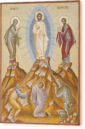 The Transfiguration Of Christ Wood Print by Julia Bridget Hayes