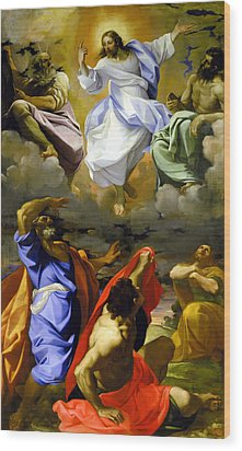 The Transfiguration Of Our Lord Wood Print by Lodovico Carracci